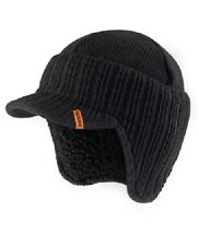 Scruffs Warm Winter Peaked Beanie Hat Black Thermal Insulated Outdoor Workwear