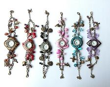 Job Lot Of 6 Charm Bracelet Quartz Watches NEW