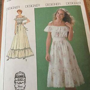 Image Is Loading Vtg Gunne Sax Jessica Mcclintock Pattern Dress Gown