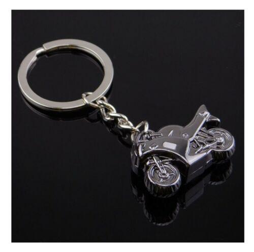 Schlüssel Taschen Anhänger Exlusives 3D Design Biker Motorrad in Silber Farben