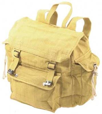 WP7 Canvas Web Backpack Black Khaki Shoulder Indian Web Bag Fishing Day BackPack