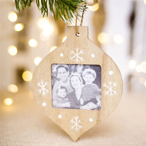 Photo Christmas Bauble Wooden Christmas Craft Decoration Gift KS