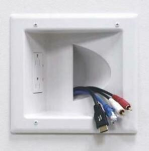 recessed audio video power cable pass through wall plate Double Gang Switch Wiring Double Gang Switch Wiring