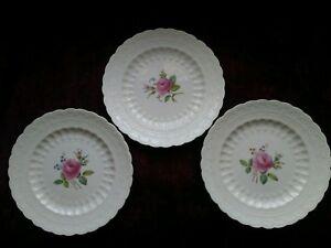 Spode-Copeland-BILLINGSLEY-ROSE-Dinner-Plates-Set-3-Older-Lot-2-FREE-SHIP