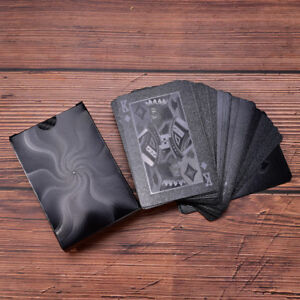 Waterproof-Black-Plastic-Playing-Cards-Collection-Poker-Cards-Creative-TBO