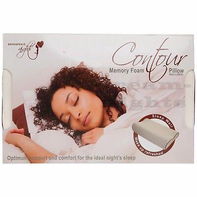 4 X Cuscino Contour Memory Foam Ortopedico Testa Ferma Supporto Collo - 40 X 60 Cm-