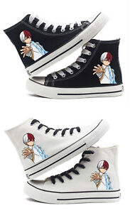 Details about My Hero Academia Todoroki Shoto cosplay High top canvas shoes HH.10