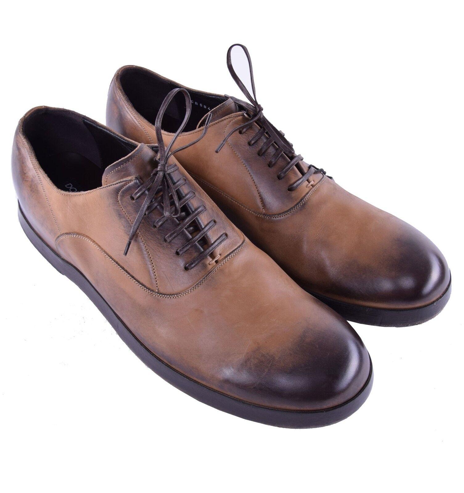 DOLCE Pelle & GABBANA RUNWAY Solid Calf Pelle DOLCE Shoes Light Brown 03895 b06196