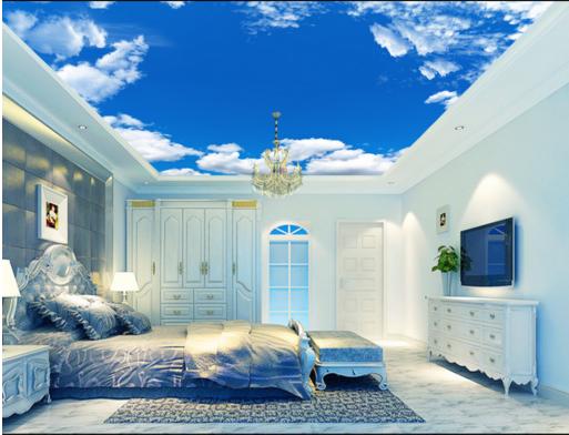 3D Blau Sky Weiß Clouds 9022 Wall Paper Wall Print Decal Wall Deco AJ WALLPAPER