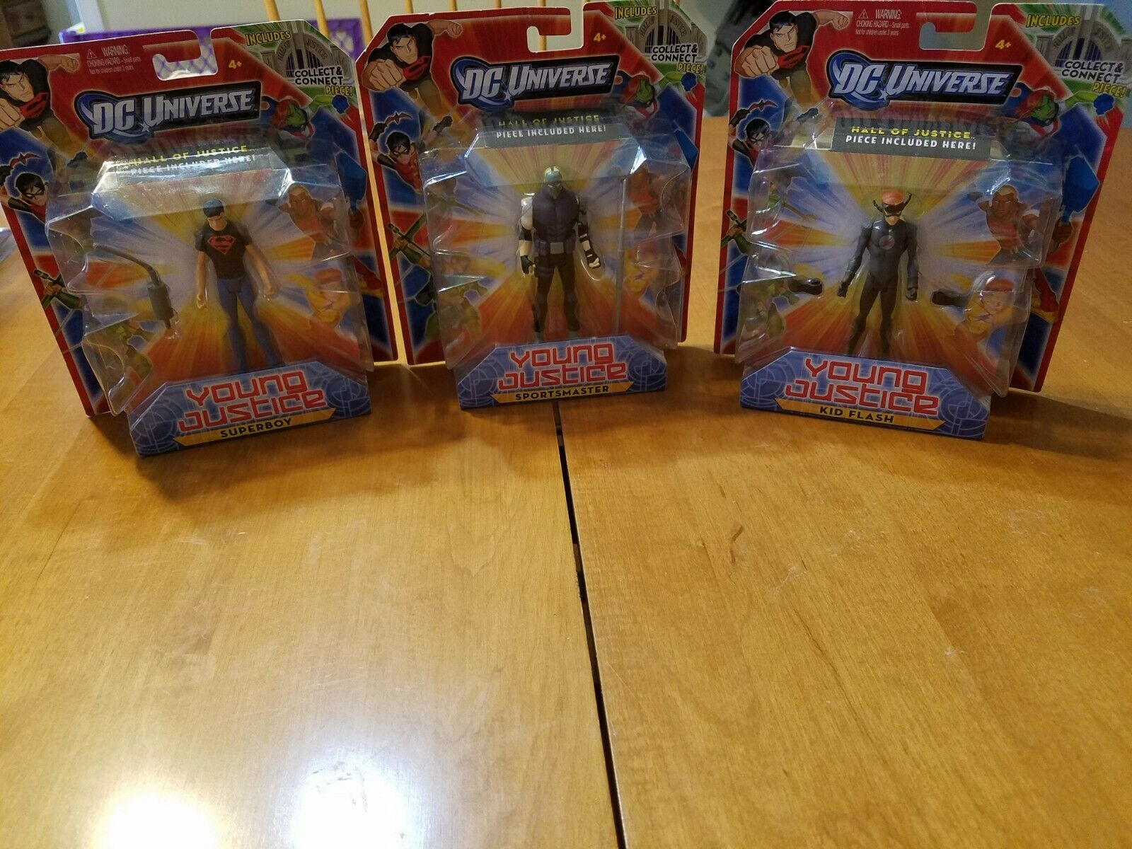 DC Universe Young Justice LOT of 3 figures Kid Flash Sportsmaster Superboy NIP