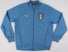 Puma Italy Italia Jacket Gli Azzurri Soccer Authentic Blue Men Size Large Zip Up
