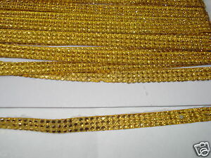 2strip-GOLD-iron-on-hotfix-rope-reel-rhinestone-crystal
