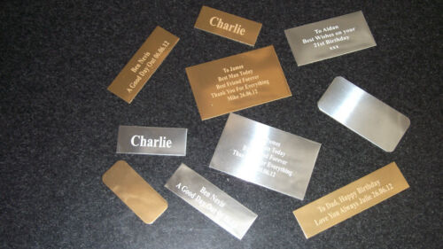 1 x ENGRAVED SELF-ADHESIVE TROPHY PLAQUE AWARD PLATE PICTURE FILM CELLS