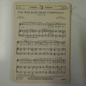 choral-vocal-score-THE-WEE-ROAD-FROM-CUSHENDALL-eric-thiman-UNISON