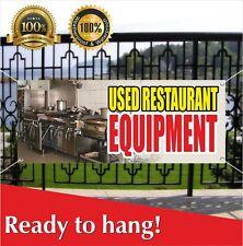 Used Restaurant Equipment Banner Vinyl Mesh Banner Sign Shop Bar Cafe