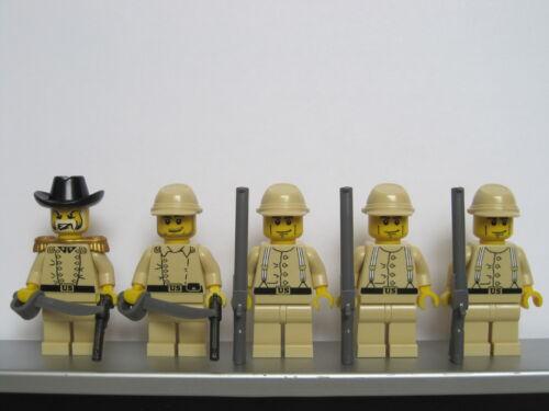 Lego WESTERN AMERICAN CIVIL WAR Tan Union Soldiers Minifigs Cavalry