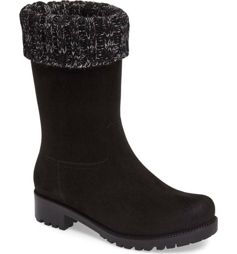 botas para mujer DAV Shelby Negro gris De Punto Puño impermeable al tobillo Botines 7 M