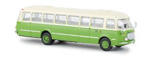 Jelcz-043-Bus-Light-Beige-Green-Wismuth-1-Version-H0-Model-1-87-Brekina