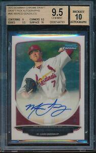 2013-Bowman-Draft-Marco-Gonzales-Chrome-Auto-BGS-9-5-Gem-Mint-Autograph