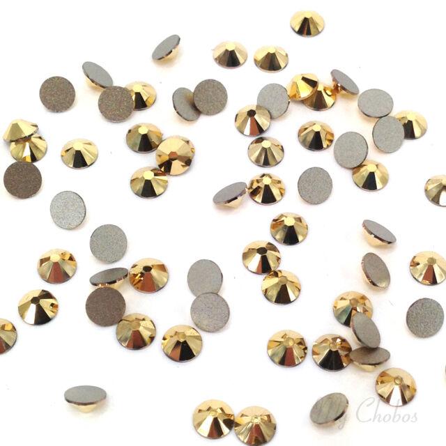 Swarovski 2058/2088 flatbacks rhinestones 144 pcs Crystal AURUM gold (001 AUR)
