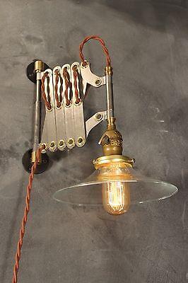 Lighting Vintage Scissor Lamp Accordion Sconce Light Art Deco Ebay