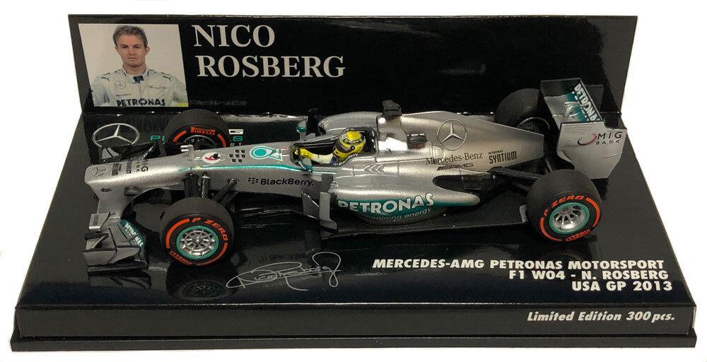 Minichamps MERCEDES F1 W04 USA GP 2013-Nico Rosberg 1/43 SCALA