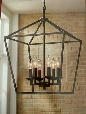 Home Decorators Collection Weyburn 6-Light Bronze Caged ...