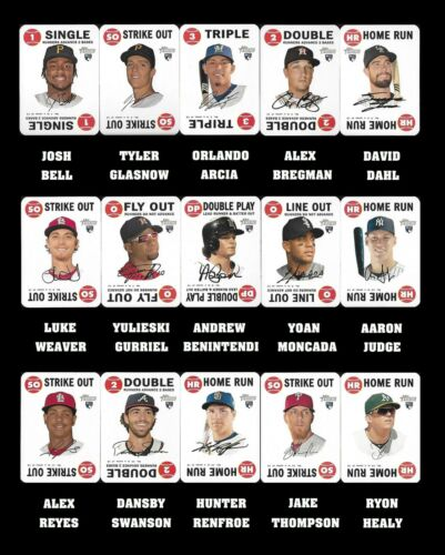 2017 TOPPS HERITAGE 1968 GAME CARD ROOKIES COMPLETE YOUR SET