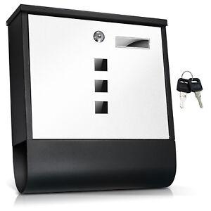 design briefkasten edelstahl mit zeitungsfach anthrazit. Black Bedroom Furniture Sets. Home Design Ideas