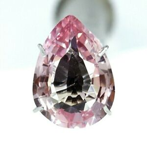 4.85 Ct Natural Padparadscha Sapphire Ceylon Pear Cut Certified Loose Gemstone