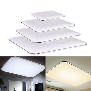 Das Bild Wird Geladen Dimmbar Deckenleuchte LED Mit Fernbedienung Kueche Deckenlampe Wohnzimmer