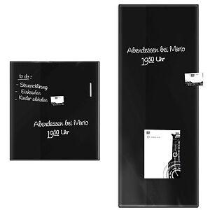 tableau memo aimant effa able 2 tailles verre inscriptible magn tique noir ebay. Black Bedroom Furniture Sets. Home Design Ideas