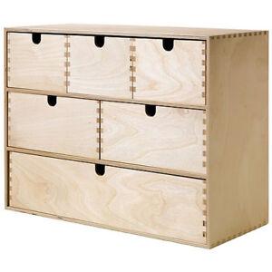 ikea moppe mini kommode holz 6 schubladen 42x18x32cm. Black Bedroom Furniture Sets. Home Design Ideas
