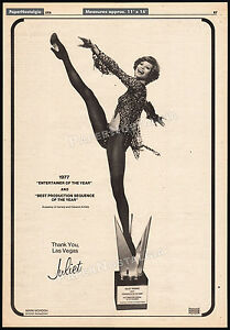 JULIET-PROWSE-Original-1978-Trade-AD-promo-poster-1977-Entertainer-of-the-Year