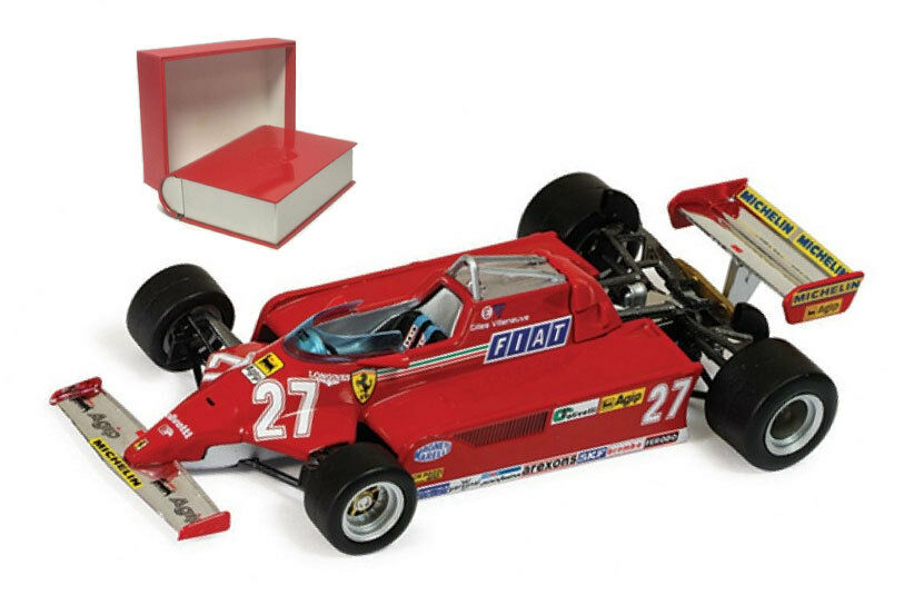 IXO SF28 81 Ferrari 126CK Ganador Español GP 1981-Gilles Villeneuve 1 43 Escala