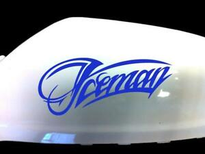 NEW-Iceman-Kimi-Raikkonen-F1-Wing-Mirror-Car-Stickers-Blue