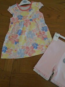 Girls' Clothing (0-24 Months) George Baby Pink Leggings Bnwt Age 3-6 Months Trousers & Shorts