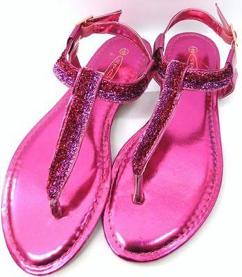 * venta * Spot On De Damas Sandalias-f0615-metálica dedo del pie Post Sandalias - 3 Colores