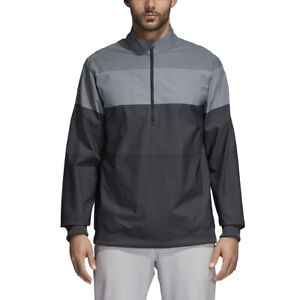 Adidas-Golf-Men-039-s-Gradient-Half-Zip-Pullover-Jacket-CD9946-Carbon-Pick-Size