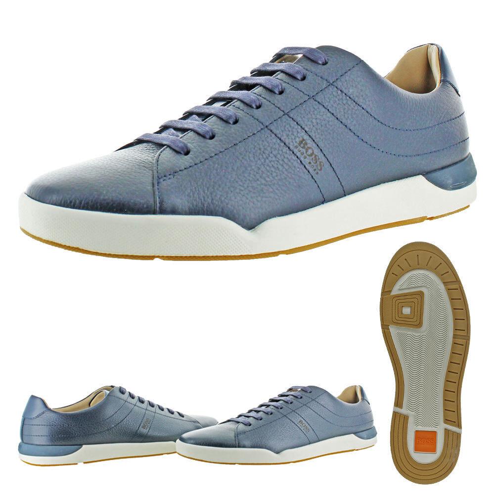 Hugo Boss Stillnes Men's Leather Tennis Court Sneakers Shoes