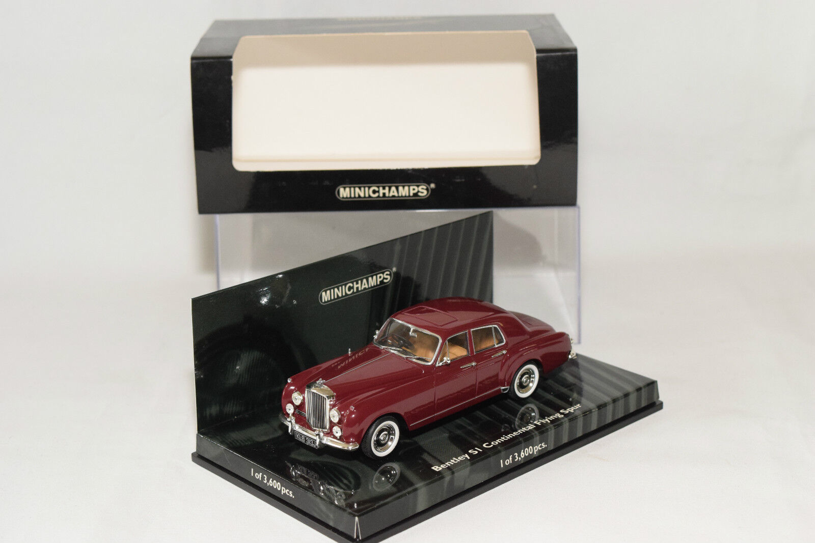 . MINICHAMPS BENTLEY S1 CONTINENTAL FLYING SPUR 1955 RED METALLIC MINT BOXED
