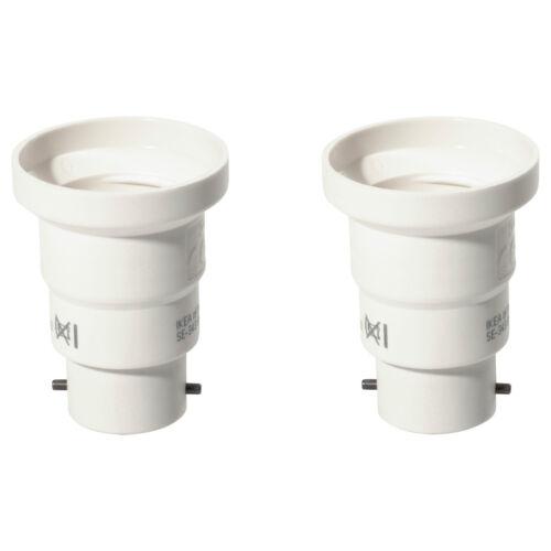 IKEA B22 à E27 Socket Royaume-Uni à l/'UE Ampoule Convertisseur Lot de 2