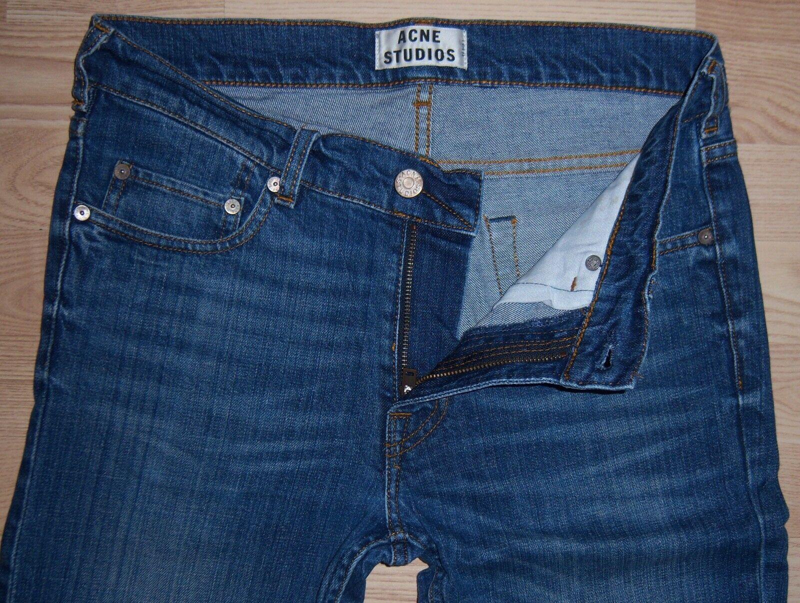 Great ACNE STUDIOS ACE STRETCH VINT bluee jeans Size W30 L32