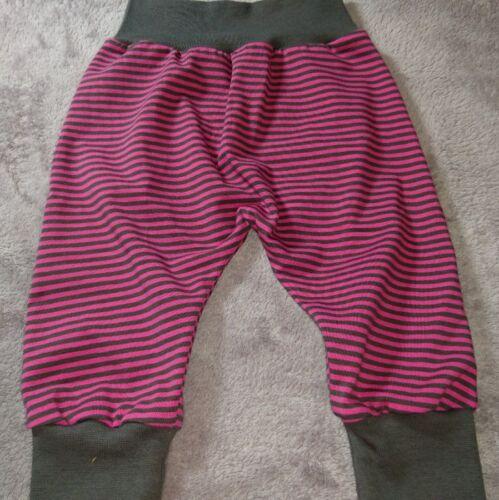 Hose Babyhose Pumphose Mitwachshose 56 62 68 pink grau Streifen Jersey