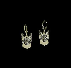 Siamese-Cat-Earrings-Fashion-Jewellery-Gold-Plated-Leverback-Hook