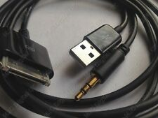 Y CABLE CAR AUX USB AUDIO BLACK CORD for iPhone iPod iPad BMW VOLVO SONY FORD HQ