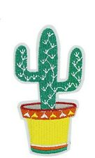 Large Mexican Cactus Iron Sew on Embroidered Patch Motif  For Clothing Applique