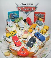 Disney Cars Movie Cake Toppers Set Of 14 With 12 Cars, Cars Ring, Sticker Sheet
