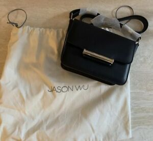 Details About Nwt Jason Wu Diane Pee 1295 Leather Cross Body Bag Black Brand New Rare