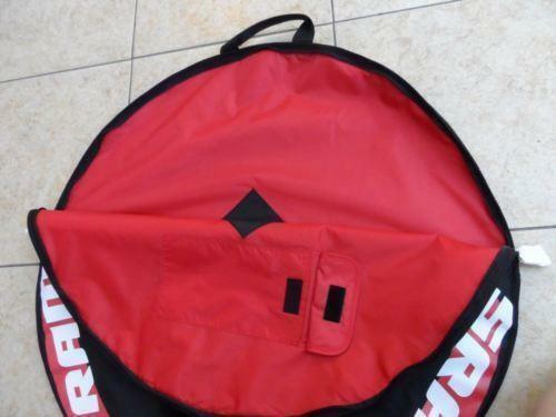 Sram Rueda única Bicicleta Bolso 1 Soporte De Ruedas Rojo Negro Con Sram logotipo